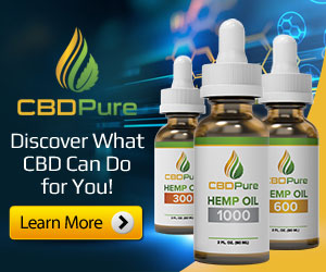 pure CBD oil banner